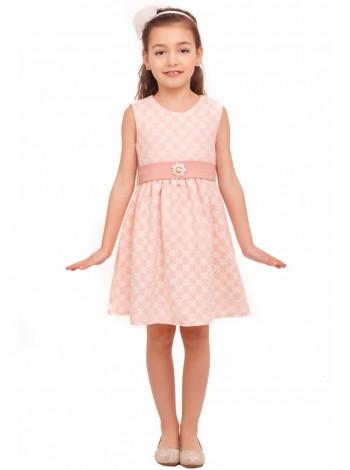 Рожеве нарядне плаття з брошкою для дівчинки