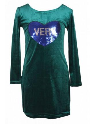 Вечернее платье детское с нашивкой из пайеток
