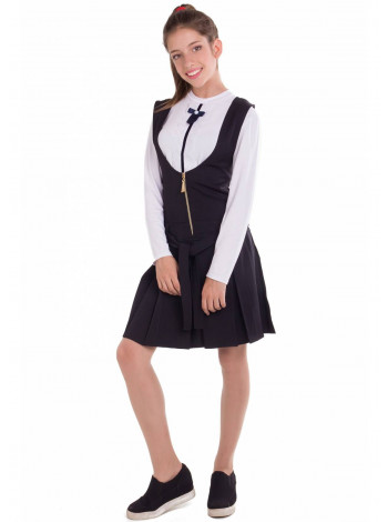 Классический школьный сарафан с юбкой в складку