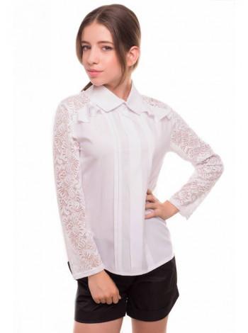Школьная блузка с кружевом