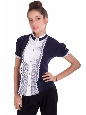 Школьная блузка с рукавом фонарик