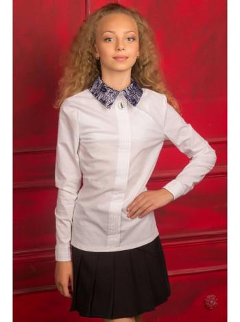 Біла блузка для школи з довгим рукавом