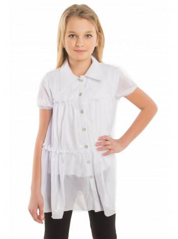 Шкільна блузка розлітайка для дівчаток