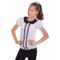 Летняя школьная блузка на девочку