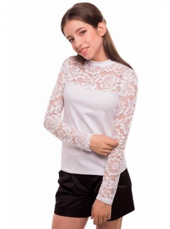 Шкільна блуза з довгим рукавом