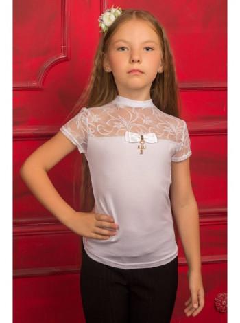 Детская блузка с короткими рукавами