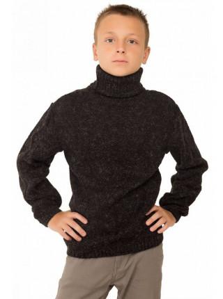 В'язаний светр з горлом для хлопчика
