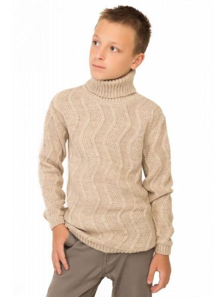 Вязаный свитер с горлом для мальчика