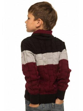 Вязаный свитер с воротом для мальчиков