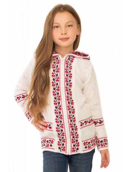 Дитяча кофта з орнаментом в українському стилі