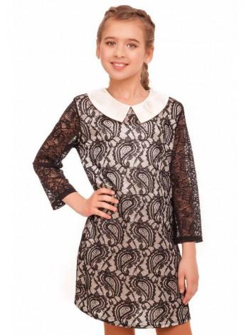 Детское платье из гипюра с воротником