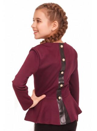 Кофточка з баскою для дівчинки