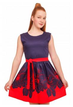 Летнее платье в цветочек на девочку