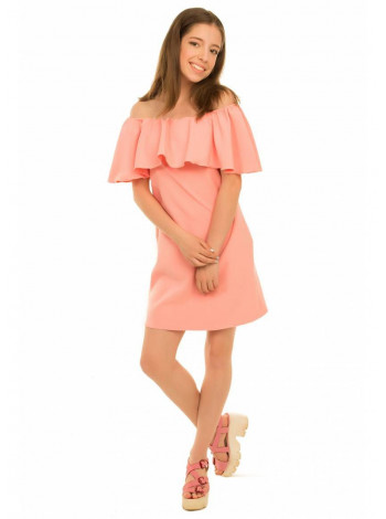 Дитяче плаття з воланом і відкритими плечима