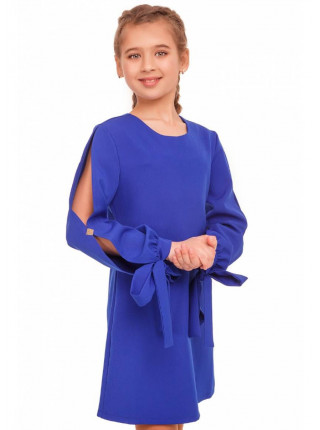 Вечернее детское платье с разрезами на рукавах