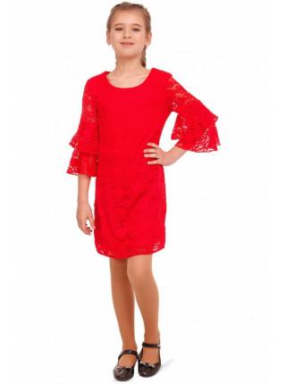 Вечернее платье из кружева для детей