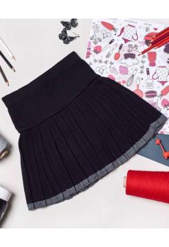 Детская вязаная юбка для девочки