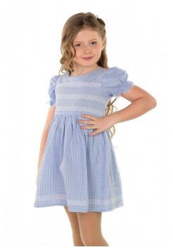 Літня дитяча сукня в клітинку