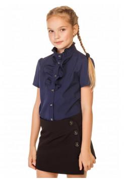 Школьная блузка с коротким рукавом для девочек