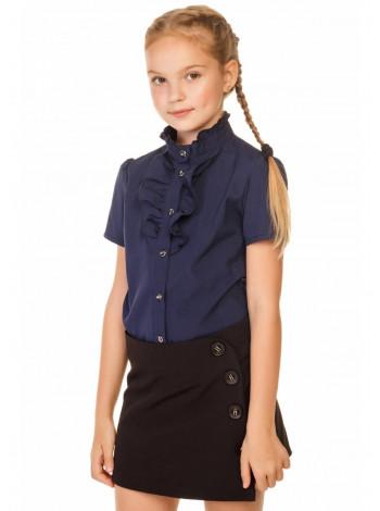 Шкільна блузка з коротким рукавом для дівчаток