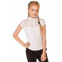 Біла шкільна блузка з коротким рукавом для дівчинки