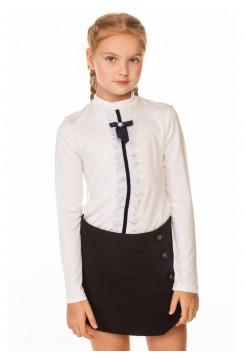 Шкільна дитяча блузка з бантиком