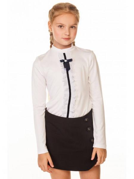 Школьная детская блузка с бантиком
