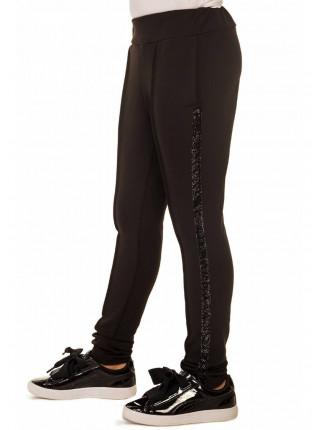 Чорні дитячі штани для дівчинки