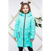 Подовжена куртка пальто для дівчинки