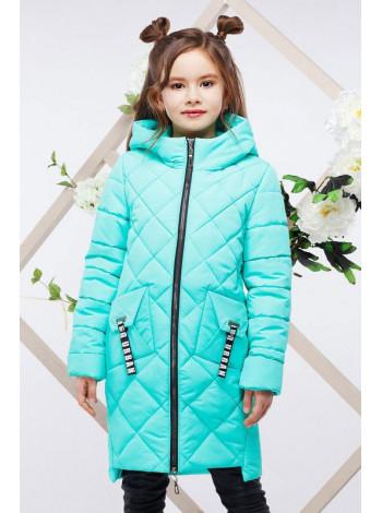 Удлиненная куртка пальто для девочки
