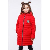 Длинная демисезонная куртка детская для девочки