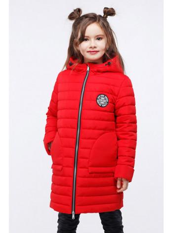 Довга демісезонна куртка дитяча для дівчинки