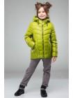 Легка дитяча куртка для дівчинки на синтепоні