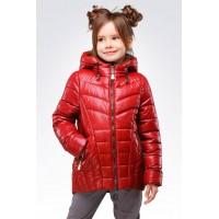 Легкая детская куртка на синтепоне для девочки