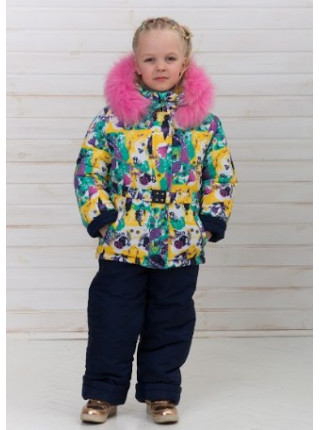 Дитячий зимовий комбінезон з курткою