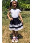Детская юбка с кружевом для школы