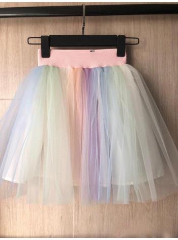 Пышная фатиновая детская юбка