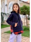 Дитяча товстовка з капюшоном для дівчинки