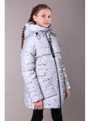Дитячий зимовий пуховик для дівчинки