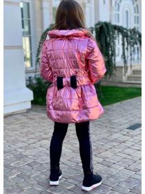 Детская куртка из плащевки металлик