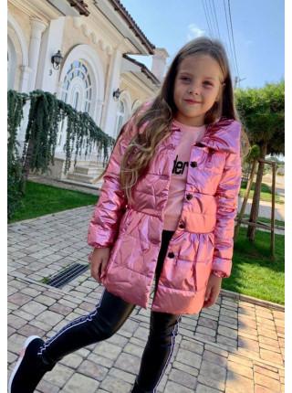 Дитяча куртка з плащової тканини металік