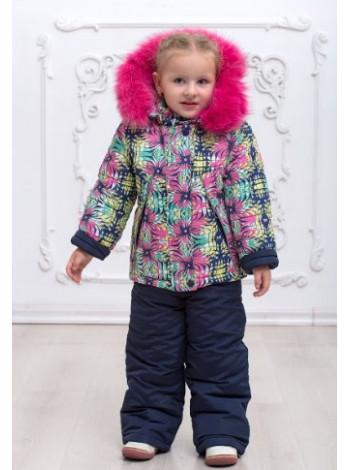 Теплий зимовий костюм двійка для дівчинки