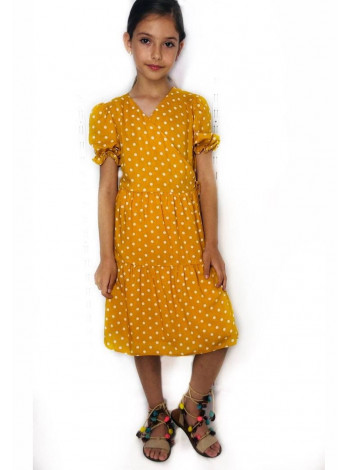 Платье в горошек для девочки