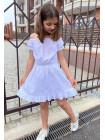 Дитяче літнє плаття з відкритими плечима