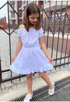 Детское летнее платье с открытыми плечами