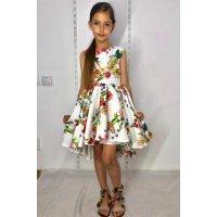 Нарядне плаття в квіти для дівчинки
