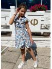 Летнее детское платье с цветочным принтом