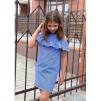 Летнее платье для девочки в клетку