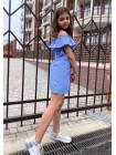 Літнє плаття для дівчинки в клітинку