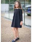 Модное школьное платье с белым воротником